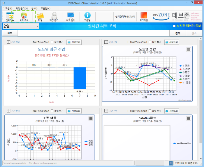 차트 분석 소프트웨어 개발 - DER Chart Analysis Software Development