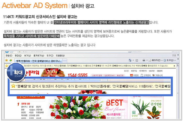 Internet Portal Site Search Language Additional Advertising/advertisement popup program (portfolio_OnMedia)